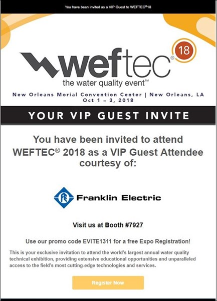 WEFTEC Evite Emial With Border